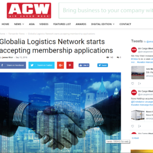 Globalia Logistics Network starts accepting applications – ACW