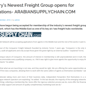 Industry's Newest Freight Group opens for applications- ARABIANSUPPLYCHAIN.COM