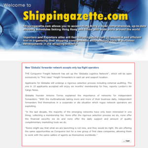 New Globalia Forwarder Network accepts only top flight operators – SHIPPING GAZETTE