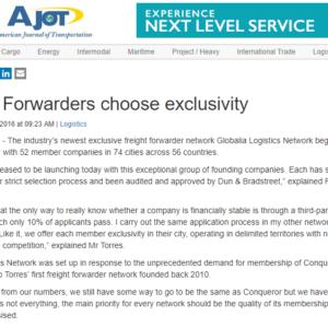 Globalia Logistics Network begins operations – AJOT