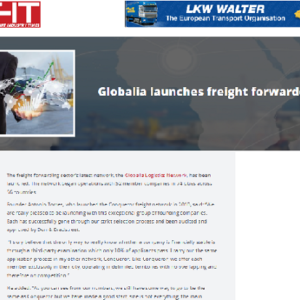 Globalia launches Freight Forwarder Network – FREIGHT INDUSTRY TIMES