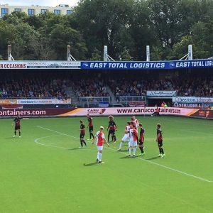 GLB Rotterdam sponsors Excelsior Rotterdam against Feyenoord in Eredivisie Match