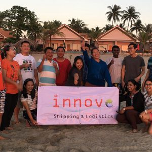 A company trip to Ngwe Saung Beach for team building activities