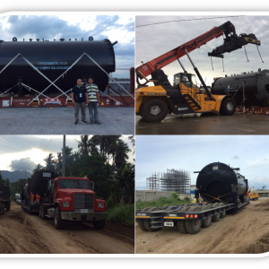 Globalia member in Manila and Cebu carries out the successful delivery of a gigantic boiler