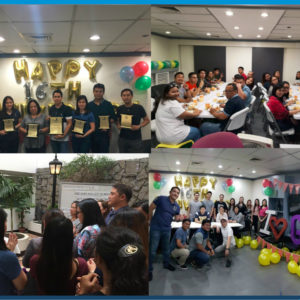 Globalia Manila celebrates their Anniversary with Friday Mass and service awards for their team members