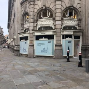 Globalia members join forces to carry out the shipment of a brand new Montblanc store in downtown London