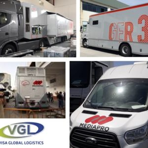 Visa Global Logistics moves several vehicles meant for broadcasting the Africa Cup of Nations from their recently inaugurated Madrid office