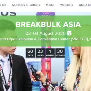 Globalia media partner Hyve group organizes Breakbulk Asia- a conference and exhibition for breakbulk and project cargo professionals